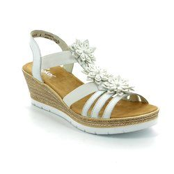 Rieker Sandals - White - 61949-80 FAWNEW