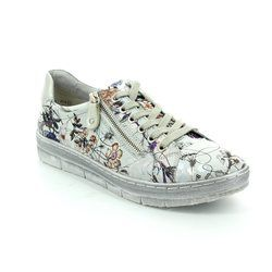 Remonte Everyday Shoes - Off white multi - D5800-90 RAVENNA