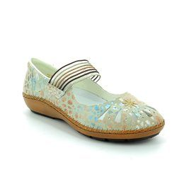 Rieker Everyday Shoes - Off white multi - 44865-81 CINDY