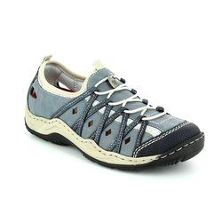 Rieker Trainers & Canvas - Navy multi - L0567-14 JEER 71