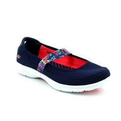 Skechers Trainers & Canvas - Navy coral combi - 14214/798 GO STEP BLOOM