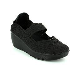 Heavenly Feet Trainers & Canvas - Black - 7014/30 RAINBOW