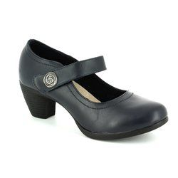 Heavenly Feet Heeled Shoes - Navy - 7011/70 PINE