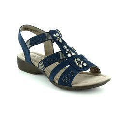 Jana Sandals - Navy - 28163805 ELEAJANA