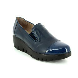 Wonders Heeled Shoes - Navy patent - C3360/70 FLYCAP