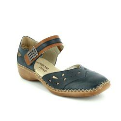 Remonte Everyday Shoes - Navy-Tan - D1627-15 DORICAR