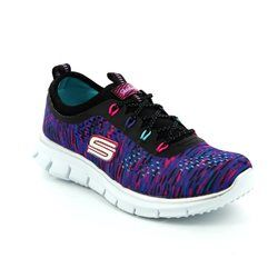Skechers Girls Shoes - Black multi - 81287/259 GLIDER DEEP