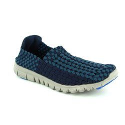 Heavenly Feet Trainers & Canvas - Navy - 7002/70 STOMP 71