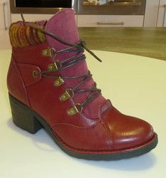 Heavenly Feet Boots - Short - Red - 7214/80 SCAVA