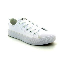 Converse Girls Trainers & Canvas - White - 335891C/113 Chuck Taylor OX Classic
