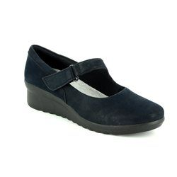 Clarks Everyday Shoes - Navy nubuck - 2957/44D CADDELL YALE