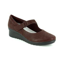 Clarks Everyday Shoes - Burgundy - 2938/04D CADDELL YALE