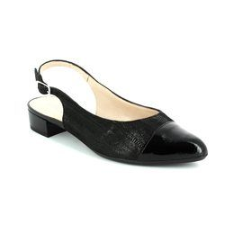 Alpina Heeled Shoes - Black patent/suede - 9J02/01 ELVIRA