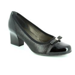 Alpina Court Shoes - Black patent/suede - 8239/4 PIA