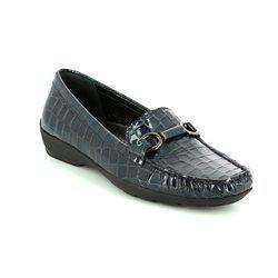 Begg Shoes Loafer / Moccasin - Navy Croc - 20184/47 LOTUS 72