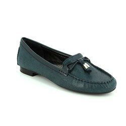 Ambition Loafer / Moccasin - Navy patent-suede - 24909/70 SUNFLOW