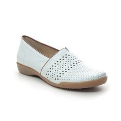 Ara Comfort Slip On Shoes - White Leather - 793/07 ANDROS