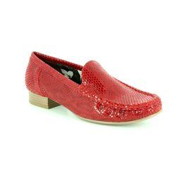 Ara Loafer / Moccasin - Red - 50137/11 ATLANTA 81