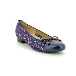 Ara Pumps - Blue-Floral - 23760/02 BARI BIRD