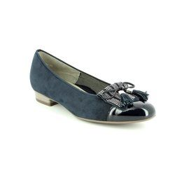 Ara Pumps - Navy - 33727/02 BARI FRINGE
