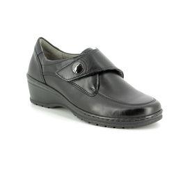 Ara Wedge Shoes  - Black - 17375/71 CREMONA VEL WI