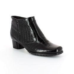7ccb958e1bebb Ara Genfcroc 61879-66 Black croc ankle boots