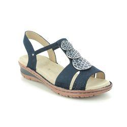 Ara Comfortable Sandals - Navy - 27242/73 HAWAII KOREGI
