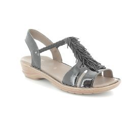 Ara Sandals - Black patent - 37270/01 HAWAIIFUR