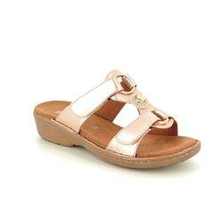 Ara Slide Sandals - Nude Patent - 57268/55 KOREGEM