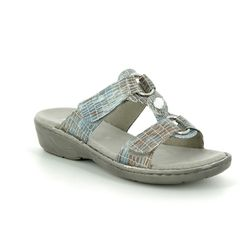 Ara Slide Sandals - Denim - 57268/56 KOREGEM