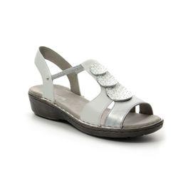 Ara Comfortable Sandals - White-silver - 57287/78 KOREGI 71