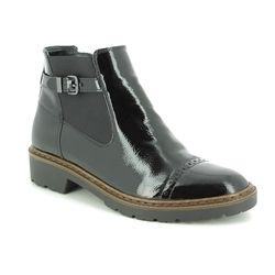 Ara Chelsea Boots - Black patent - 60064/76 PORTLAND CAP