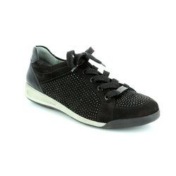 Ara Comfort Lacing Shoes - Black nubuck - 44458/01 ROME