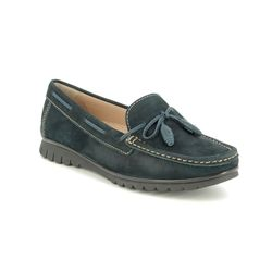 Begg Exclusive Loafers and Moccasins - Navy Nubuck - 50597/70 GUANTES
