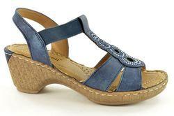 Begg Exclusive Wedge Sandals - Navy - B33203/40 ROBDISC