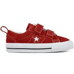 Converse Girls Trainers & Canvas - Red multi - 756133C/600 ONESTAR VEL INF