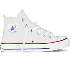 Converse Boys Trainers & Canvas - White - 7J253C/102 JNR ALLSTAR HI