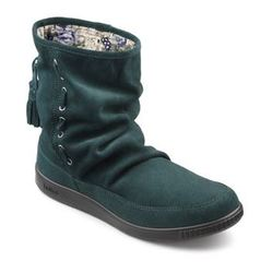 Hotter Boots - Short - Green Suede - 7204/95 PIXIE