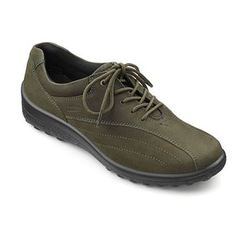 Hotter Everyday Shoes - Green Nubuck - 7208/90 TONE