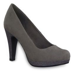Marco Tozzi Heeled Shoes - Grey suede - 22441/225 TAGGISPA