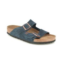 Birkenstock Sandals - Navy Suede - 1012423 ARIZONA MENS