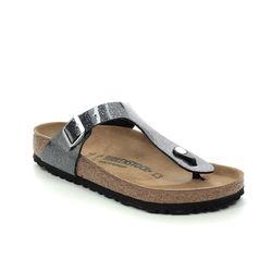 Birkenstock Toe Post Sandals - Black Glitz - 1014394 GIZEH