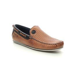 Bugatti Loafers - Tan Leather  - 32170466/6340 CHEROKEE