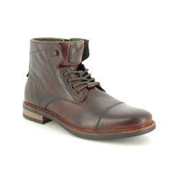 Bugatti Brogue Boots - Brown leather - 31137739/6100 MARCELLO CAP