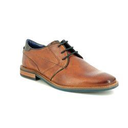 Bugatti Smart Shoes - Tan Leather  - 31146103/6341 RAFO TWIN FIT