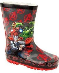 Cartoon Characters Wellingtons                   - Red multi - 0426/8A AVENGERS GROUP