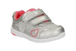 Clarks Girls 1st Shoes & Prewalkers - Silver - 2174/86F AZON MAZE FST