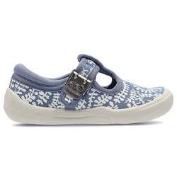 Clarks Girls 1st Shoes & Prewalkers - Blue multi - 2342/27G BRILEY BOW FST