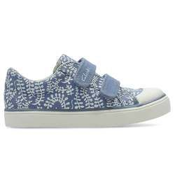 Clarks Girls Trainers - Blue multi - 2456/36F BRILL ICE INF