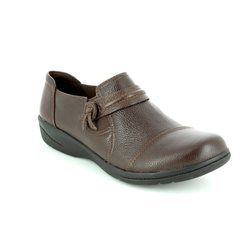 Clarks Comfort Shoes - Dark brown - 2893/14D CHEYN MADI